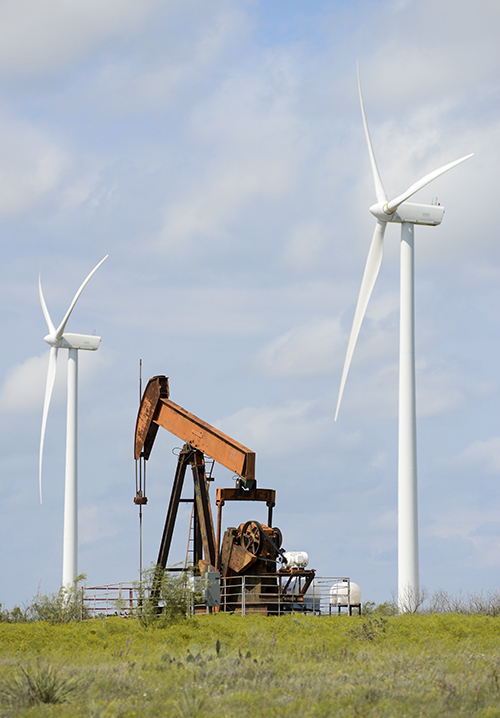 Wind and petroleum are two of Texas' largest energy sectors.