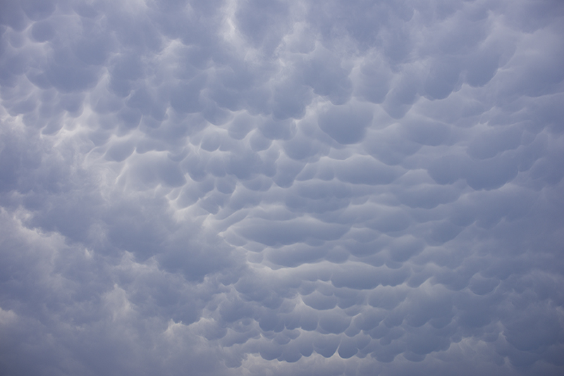 Mammatus clouds northwest of Fort Worth, Texas on 5/20/2013 5:27 PM.  ©2013 Robert W. Hart