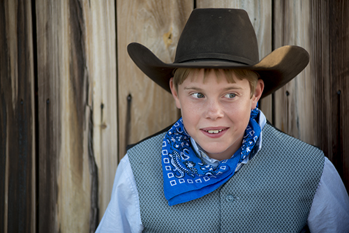A young Albany, Texas cowboy waits for his cue to perform at the Fort Griffin Fandangle Sampler on May 4, 2013 at the site near Fort Griffin where Doc Holliday and Wyatt Earp met. ©2013 Robert W. Hart