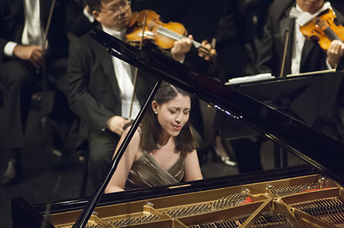 Beatrice Rana, of Italy, performs Beethoven's Piano Concerto No. 3 in C Minor, op. 37 during the Fourteenth Van Cliburn International Piano Competition in Fort Worth, Texas on June 6, 2013. ©2013 Robert W. Hart