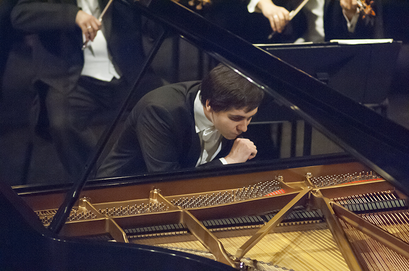 Vadym Kholodenko of the Ukraine performs Prokofiev's Piano Concerto No. 3 in C Major, op. 26 during the Fourteenth Van Cliburn International Piano Competition in Fort Worth, Texas on June 7, 2013. ©2013 Robert W. Hart