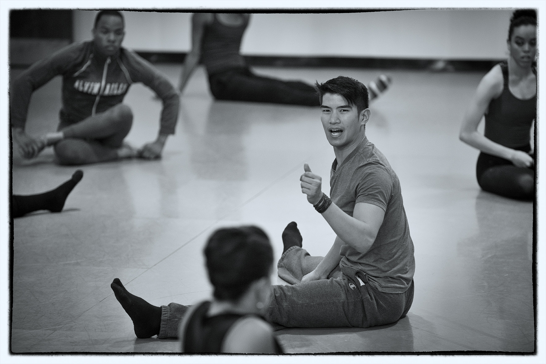 "Choreographer Chris Vo rehearses ""touch (listen)"" with Dallas Black Dance Theatre company on May 7, 2014 at Dallas Black Dance Theatre studio in Dallas, Texas."
