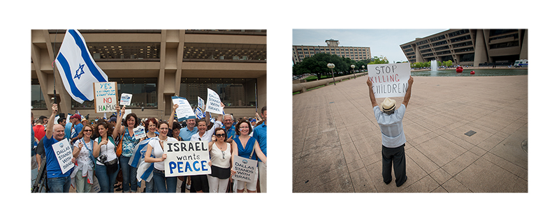 Dallas Stands With Israel demonstration July 30, 2014. ©2014 Robert W. Hart