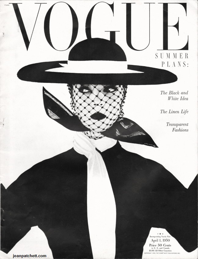 An Irving Penn cover for Vogue Magazine's April 1, 1950 issue